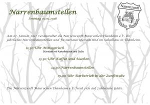 Flyer Narrenbaum